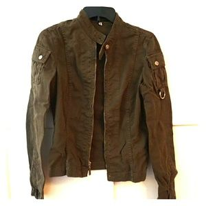 Juicy Couture Army Green Jacket made In USA Size M